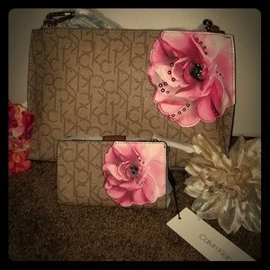 NWT--Calvin Klein Crossbody Bag and Wallet Bundle